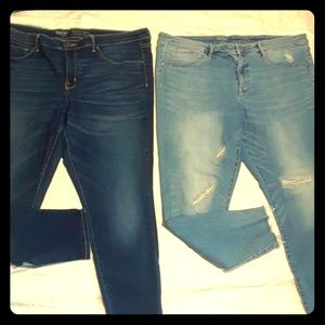 2 pair of jeans size 18